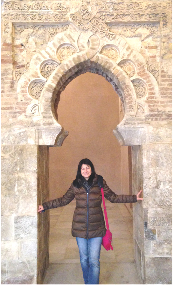 The author in Monreale's medieval cloister.